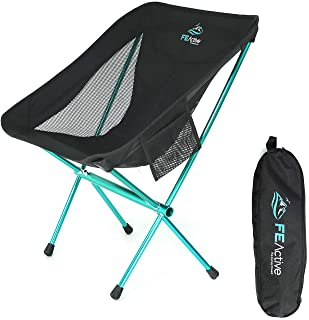 FE Active Folding Camping Chair - Compact, Lightweight & Portable Outdoor Chair. Great Camping Chairs for Adults & Kids. I...