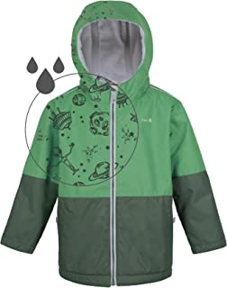 Boys Rain Jacket, Lightweight Winter Raincoat w Magic Pattern - Fleece Lined - Toddler Kids Youth Clothes