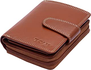 TOUGH Genuine Leather Wallets for Women High Quality- Tan