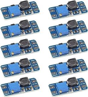 VKLSVAN 10PCS MT3608 Step Up Boost Converter DC-DC 2V-24V to 5V-28V Adjustable Step Up Voltage Regulator Module 5V 9V 12V 24V