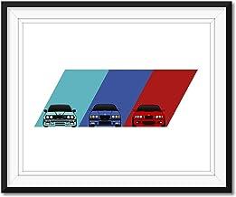 A4 A3 A2 sizes Art Print Car RENDER POSTER BMW E30 HARTGE -