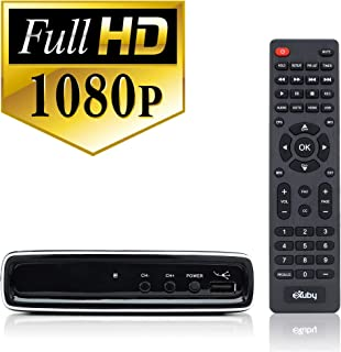 Exuby Digital Converter Box for TV with RCA AV Cable for Recording and Watching Full HD Digital Channels - Instant & Sched...