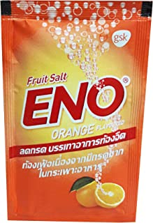 ENO, 30 Packs of ENO Sparkling Antacid Relief (Orange Flavoured, Fruit Salt) for Indigestion, Flatulence. (4.3 G/Pack).