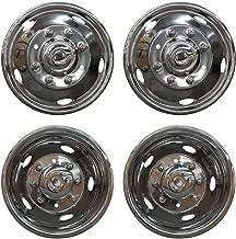 VioletLisa 4pcs Front+Rear Polished Stainless Steel 19.5