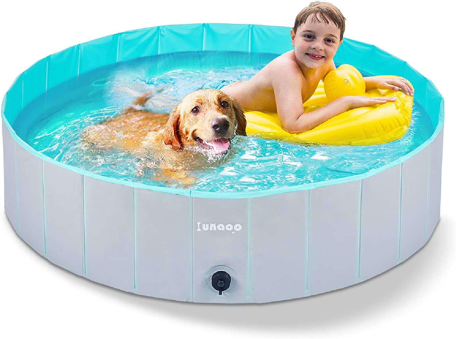Lunaoo Foldable Dog Pool Portable Kiddie Pool For Kids Pvc Bathing Tub Outdoor Swimming Pool For Large Small Dogs Amazon Ca Pet Supplies