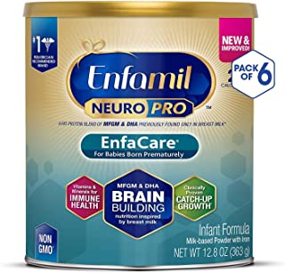 Enfamil NeuroPro EnfaCare Premature Baby Formula Milk Based w/Iron 12.8 Oz. Powder Can (Pack of 6)