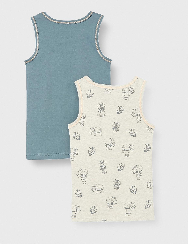 Sanetta Boys Unterhemd Im Doppelpack Grau Vest in Double Pack