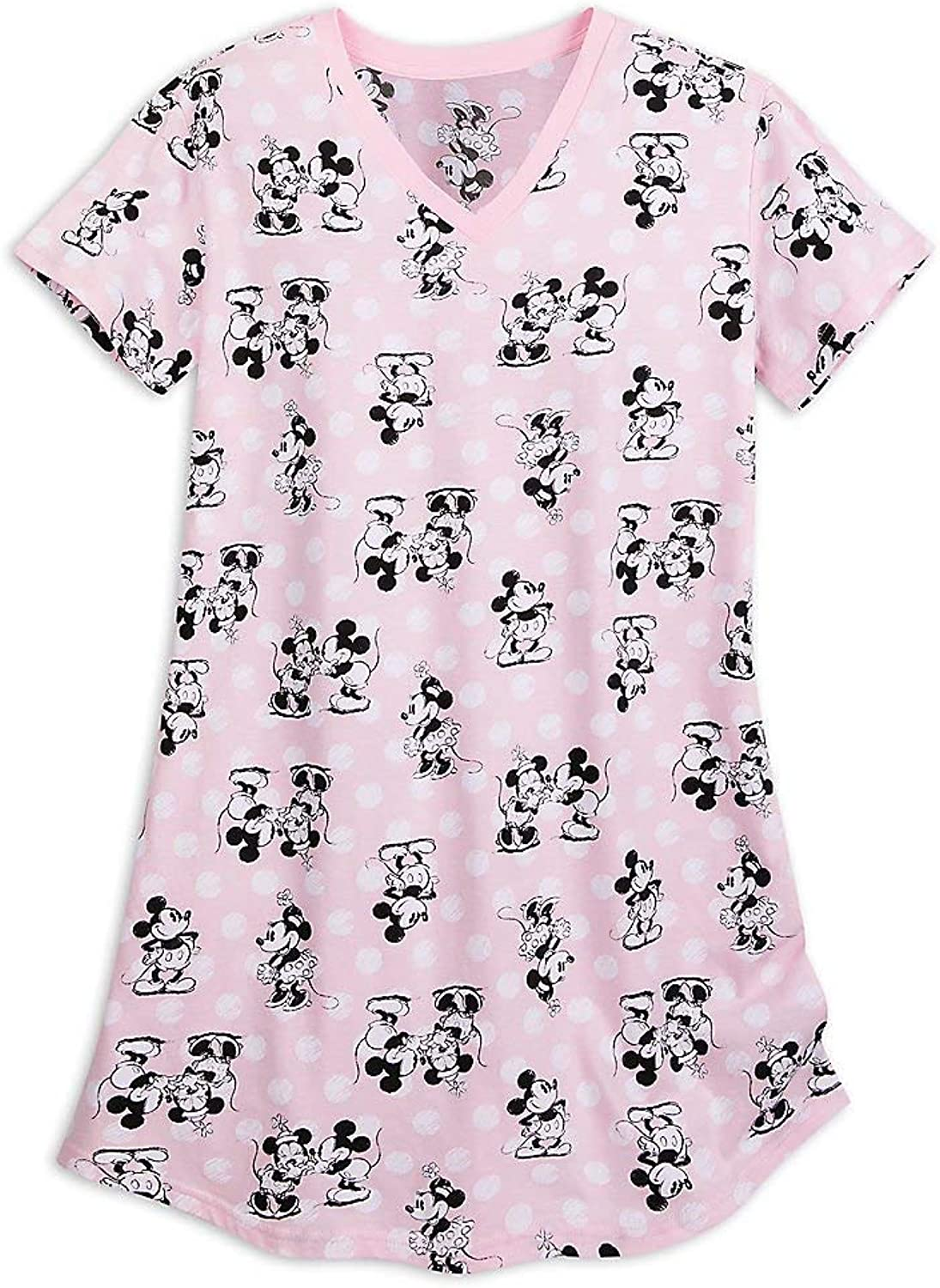 Disney Mickey and Minnie Mouse Nightshirt for Women Pink