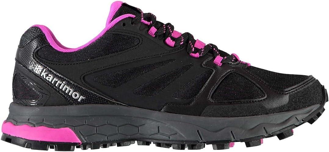 Official chaussures Karrimor Tempo 5Trail Chaussures de Course à Pied pour Femme Noir Rose Jogging paniers paniers