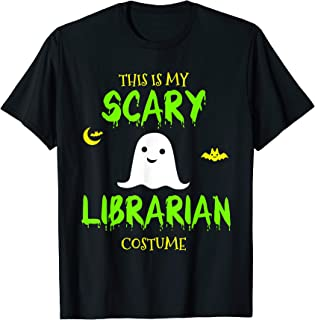 Scary Librarian Costume Halloween T-Shirt Lazy Easy T-Shirt