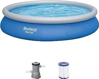 Bestway Fast Pool Set 457x84 cm, mit Filterpumpe Piscina con Bomba de Filtro (457 x 84 cm), Color Azul, (57313)