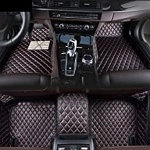 Custom Car Floor Mats Fit for BMW 3 Series E90 E91 E92 E93 F30 F31 F35 318i 320i 325i 328i 330i 335i 320d 325d 2013-2017 Full Coverage All Weather Protection Waterproof Non-slip Leather Black Red