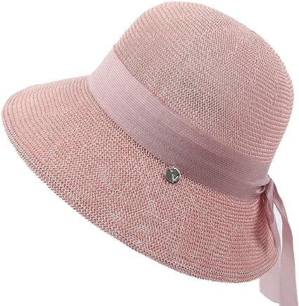 3fe0c049d18ca7 Summer Beach Sun Hats For Women Floppy Foldable Straw Beach Sun Cap Wide  Brim UV Protection