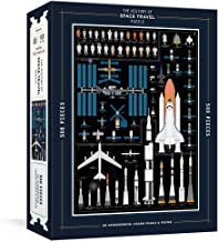 The History of Space Travel Puzzle: Astronomical 500-Piece Jigsaw Puzzle & Poster (Pop Chart Lab)