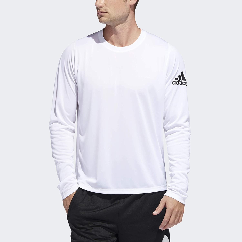 adidas Men's Freelift Sport Badge of Sport Long sleeve Tee