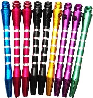 WINOMO 9 Pcs Aluminum Alloy Medium Darts Shafts Dart Stems Throwing Fitting (Multicolor)