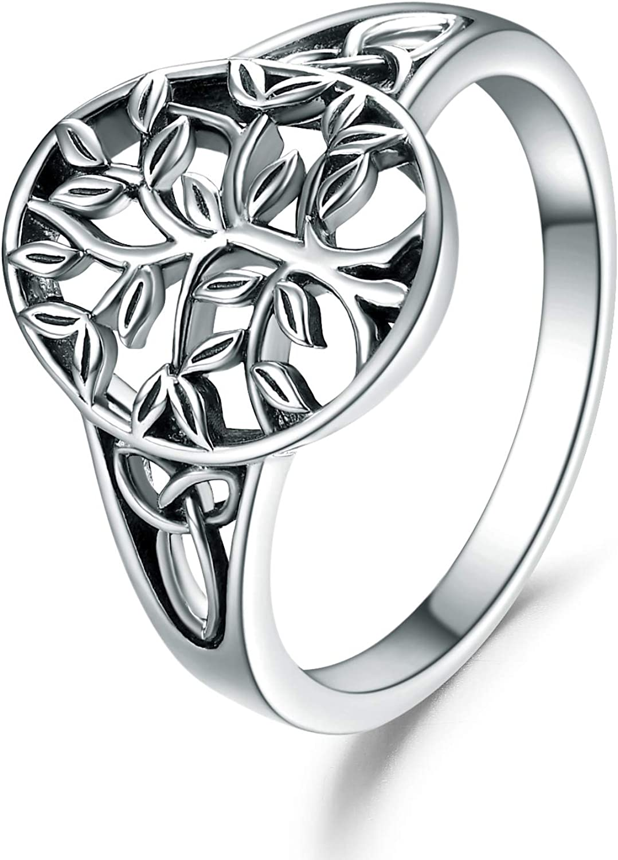 Zoeniya Sterling Silver Tree of Life for Women Jewel Direct stock discount Girls Rings Overseas parallel import regular item