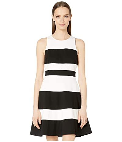 Kate Spade New York Stripe Ponte A-Line Dress (Black Multi) Women