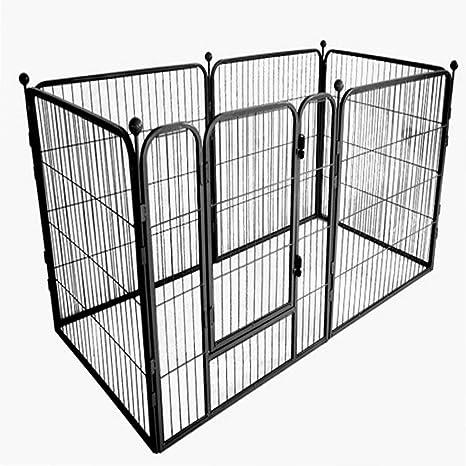 SOULONG Recinto per Cani cagnolini da Interno o Esterno Grande Box Pieghevole per Cani Portatile e Pieghevole caff/è Facile da Montare Oxford Recinto Pieghevole per Animali Gatti