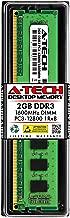 A-Tech 2GB DDR3 1600MHz Desktop Memory Module (1 x 2GB) PC3-12800 Non-ECC Unbuffered DIMM 240-Pin 1Rx8 1.5V Single Rank Computer RAM Upgrade Stick