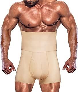 Men Boxer Briefs Open Fly High Waist Slimming Underwear Belly Girdle Body Shaper
