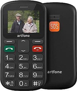 artfone Seniorenhandy ohne Vertrag   Dual SIM Handy mit Notruftaste   Rentner Handy große Tasten   GSM Handy   Großtastenhandy (CS181)