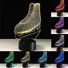 اسکیت روی یخ 3D Skates Night Ice Ice Skates 3D LED Optical Illusion 7 Colour تغییر دکمه لمسی نور شب طراحی خلاق طراحی چراغ جلوه ای چراغ اثر (یخ اسکیت)