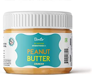 Borito All Natural Unsweetened Crunchy Peanut Butter 340gm