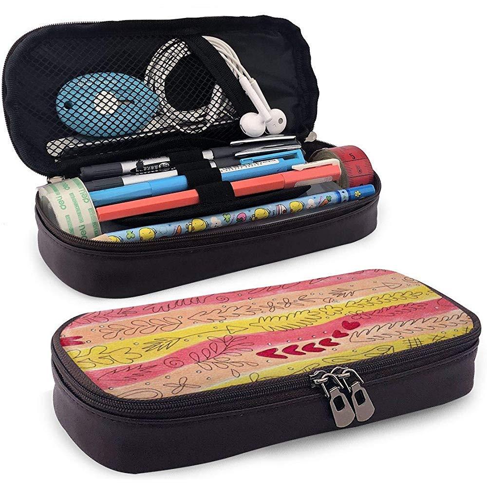 Estuche para lápices Laura Heine Bolso para lápices de gran capacidad con doble cremallera Portalápices para escuela/oficina: Amazon.es: Oficina y papelería