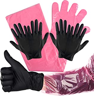 Kalolary 20Pairs Disposable Gloves Large Disposable Nitrile Gloves Hunting Deer Gutting Gloves Field Dressing Mittens with...