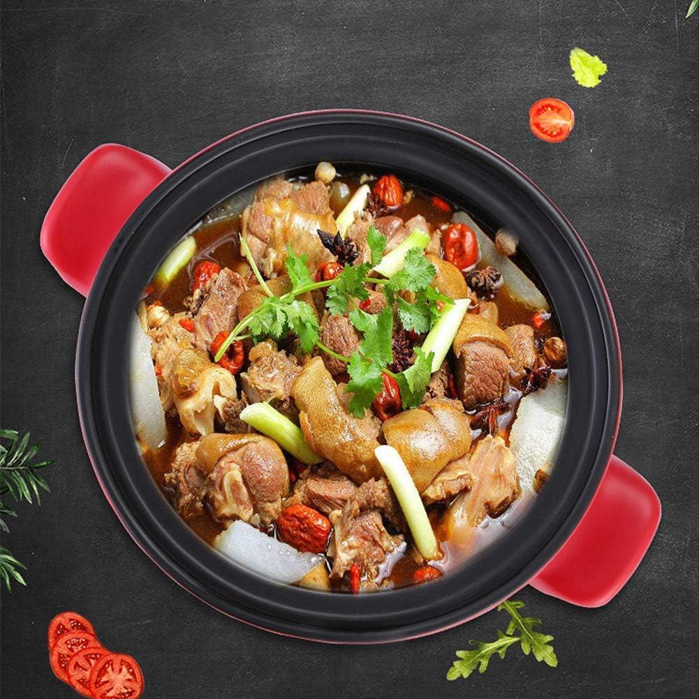 WZF Cocotte Cocotte Pot en céramique hollandaise avec Double poignée et Couvercle Pot de Soupe pour la Maison marmite pour Four et Plaque de Cuisson 4L-4 1