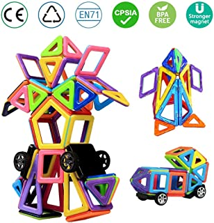Magnetic Building Blocks, infinitoo 76pcs Kids Toys, Building Toys Construction Blocks, Great Educational Toys for Children, Kids, BAP Free Saftey Toys, Creative Toys as a Perfect Gift for Christmas, Birthday