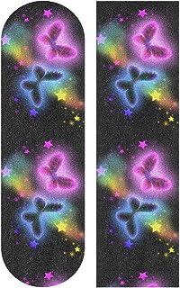 """Skateboard Grip Tape Butterfly Stars Scooter Griptape Deck Sandpaper Longboard Sheet Sticker 9"""" x 33"""""""