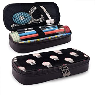 Alsdjfhlf shdfksfrvb shdfksfrvb Cherry Cake Leather Cute Pencil Case - High Capacity Pencil Pouch Stationery Organizer Multifunction Cosmetic Makeup Bag, Perfect Holder for Pencils and Pens