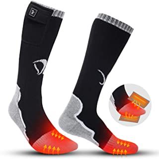 comprar comparacion Calcetines calentados para hombres mujeres, batería eléctrica recargable Calefacción calcetines para deportes de invierno ...