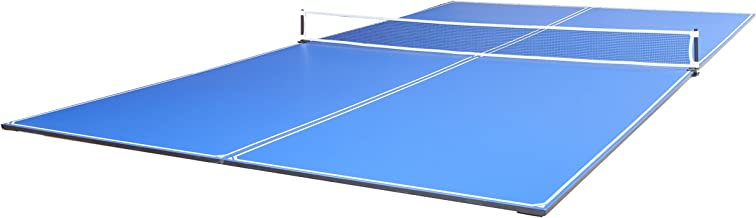 JOOLA Tetra - 4 Piece Ping Pong Table Top for Pool Table - Includes Ping Pong Net Set - Full Size Table Tennis Conversion Top for Billiard Tables - Easy Assembly & Compact Storage - Incl. Foam Backing