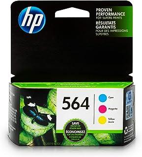 HP 564 Ink Cartridges: Cyan Magenta & Yellow 3 Ink Cartridges (CB318WN CB319WN CB320WN) for HP Deskjet 3520 3521 3522 3526 HP Officejet 4610 4620 4622 HP Photosmart: 5510 5512 5514 5515 5520 5525