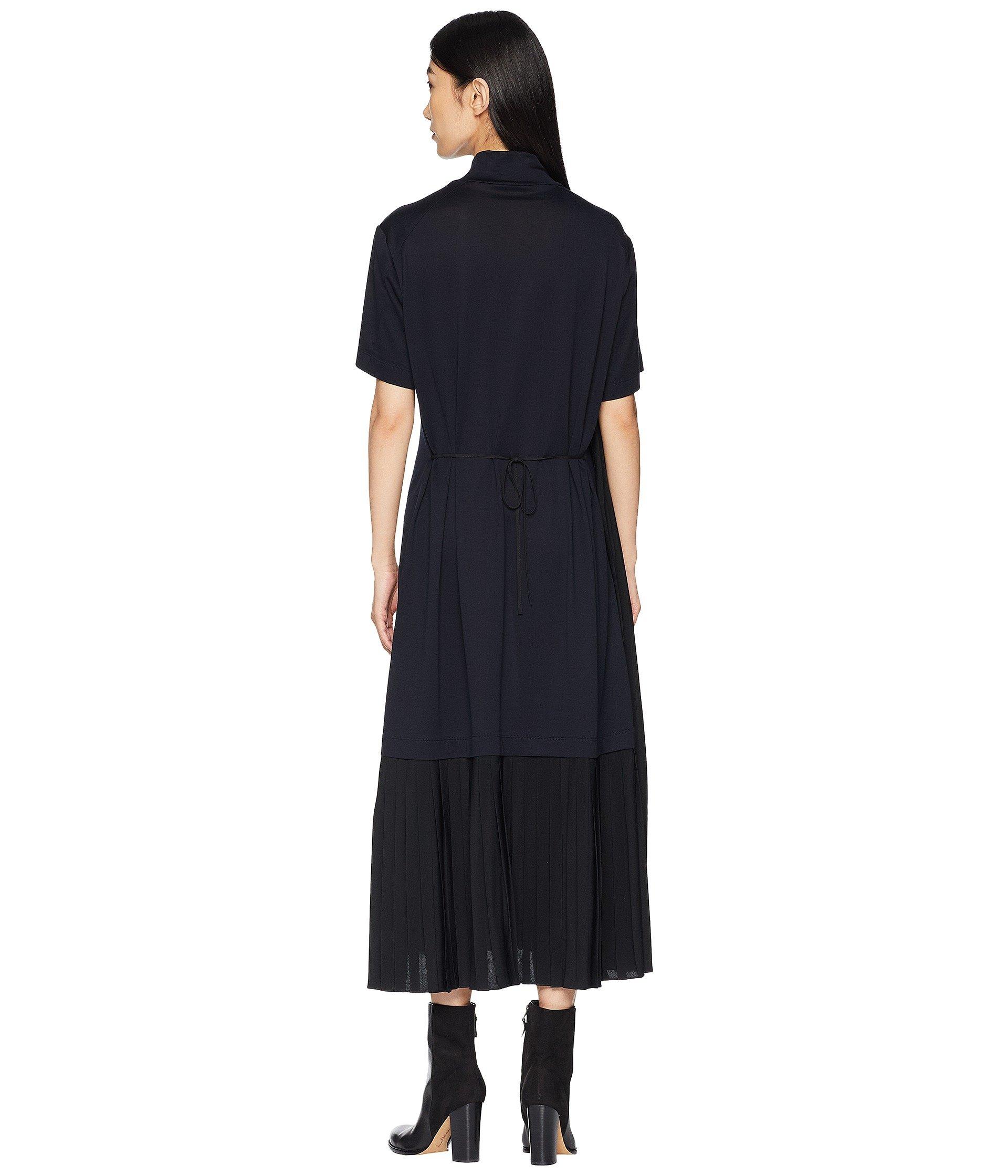 Jil Sander Sleeve Plisst Dress Details Turtleneck Navy Short And gzqr1wg6