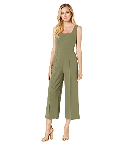 Donna Morgan Squared Neck Cropped Wide Leg Jumpsuit (Olive) Women
