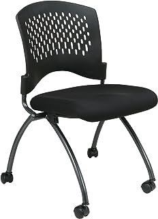 Office Star Deluxe - Silla Plegable con Ruedas, Parte Traser