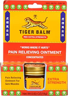 Tiger Balm Pain Relieving Red Extra Strength, 18g – Relief for Sore Muscles – Extra Strength Sports Rub – Tiger Balm Extra...