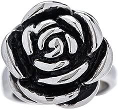 Designer Stainless Steel Rose Ring for Women and Girls - Sizes 5 thorugh 10