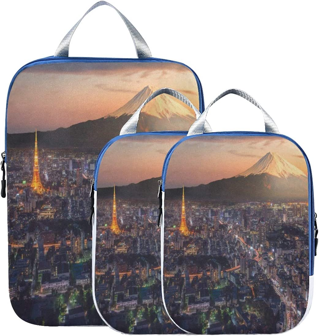 Packing Wholesale Cube Set 3pcs for Travel Compression San Diego Mall Bags City Night Org