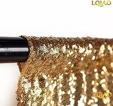 LQIAO Sequin Backdrop Curtain Panel 2x8FT-Gold,Sequin Photography Backdrop Curtain for Party/Home Curtain Decoration 1pc, Pocket 2x8FT(60x245cm))