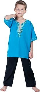 NATALIJA Africa Heritage Cosplay Boy's Outfit Dashiki Costume Dress Blue