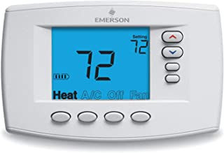 Emerson Low Voltage Thermostat, Stages Cool 2, Stages Heat 4