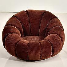 BRSL غرفة المعيشة الصغيرة أريكة قماش الأزياء الإبداعية ، كراسي الكمبيوتر ، حقيبة حبوب ، أريكة صغيرة (اللون: برتقالي)