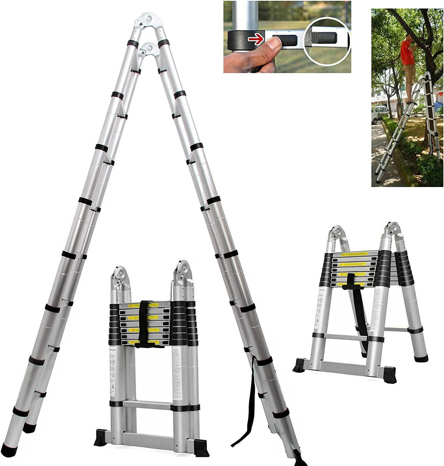 A-Type Choice Adjustable Free shipping anywhere in the nation Height Ladder Telescoping Extension Aluminum L