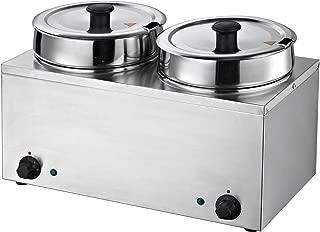 Hakka Commercial Countertop Food Warmer/Buffet Soup Pot (3.5Lx2)