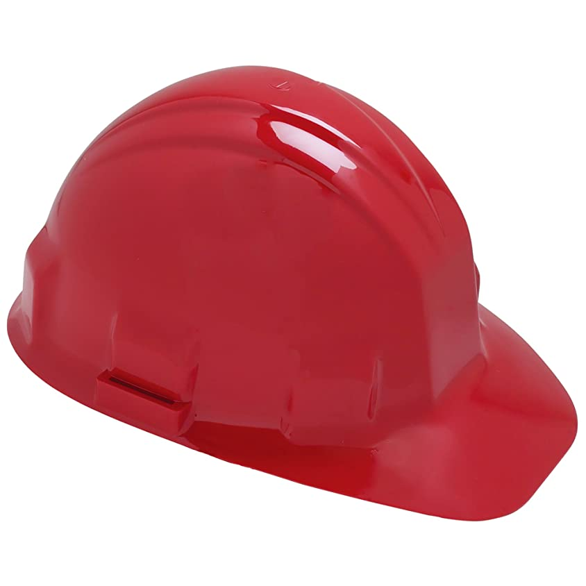 飲み込む剪断かんがいJackson Safety 14418 Sentry III High Density Polyethylene Hard Hat with 6 Point Ratchet Suspension, Red (Pack of 12) by Jackson Safety